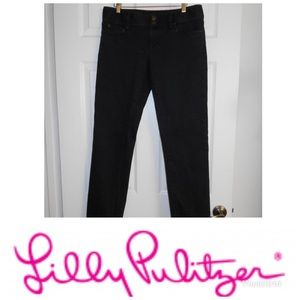 Lilly Pulitzer black straight leg jeans size 8 